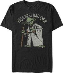 fifth sun men's star wars yoda best dad ever short sleeve t-shirt
