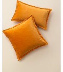 poszewka dekoracyjna pomarańczowy velvet