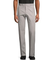 saks fifth avenue men's solid stretch-cotton trousers - cement - size 38 r