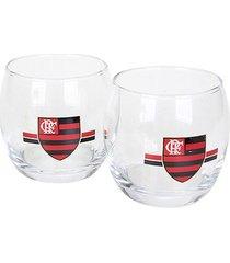 conjunto de copos flamengo bola - 2 unidades