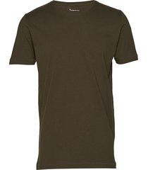 alder basic tee t-shirts short-sleeved grön knowledge cotton apparel