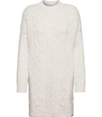 florence cable dress knälång klänning creme superdry
