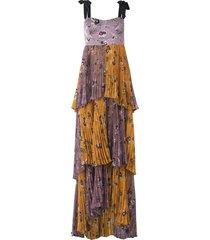 daria dress in floral lavender/mustard