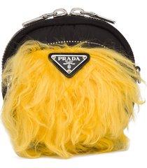 prada cargo zipped pouch - black