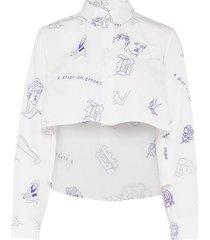 mayuri blouse lange mouwen wit baum und pferdgarten