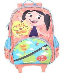 mochila escolar infantil com rodinhas pacific o show da luna mundo