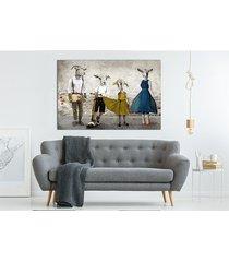 obraz - kozłowscy- kozia rodzina 120x80.