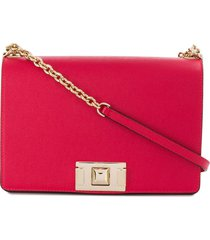 furla square clasp shoulder bag - red