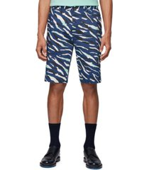 boss men's rigan dark blue shorts