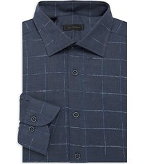 collection boucle check dress shirt