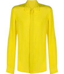 rick owens performa office shirt - yellow