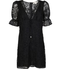 michael michael kors black medallion lace dress