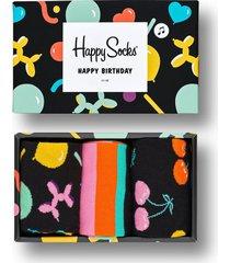 giftbox urodzinowy grający 3pak skarpetki happy birthday