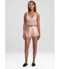 natori sleek lace shorts, women's, silk, size m