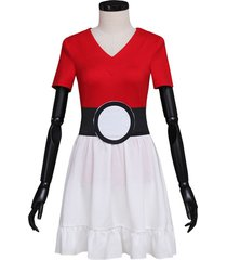 pokemon go game cosplay costume women halloween carnival party dress