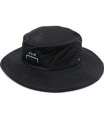 a-cold-wall* logo-embellished bucket hat - black