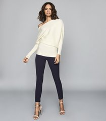 reiss tyne - skinny trousers in navy, womens, size 0r