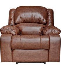poltrona do papai reclinável elétrica com massagem magnum couro marrom - gran belo