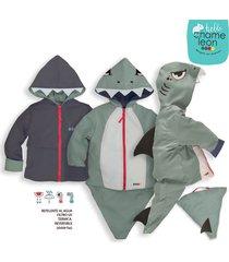 chaqueta impermeable tiburon gris