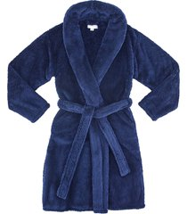 gravity x modernist weighted collar robe, size large - blue