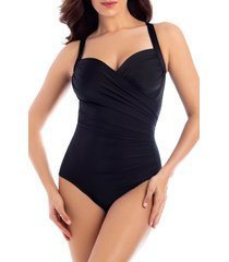 women's miraclesuit must have sanibel underwire one-piece swimsuit, size 18 - black
