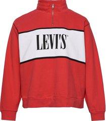 pl cb logo sweatshirt logo swe sweat-shirt tröja röd levi's plus