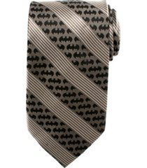 dc comics batman pinstripe men's tie