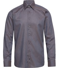 lightweight flannel shirt overhemd casual grijs eton