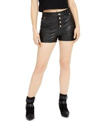 guess minx faux-leather hot shorts