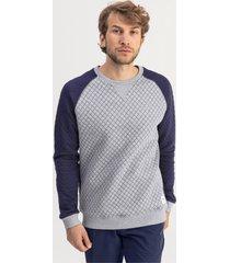 doorgestikte golfsweater voor heren, grijs/heide, maat l | puma
