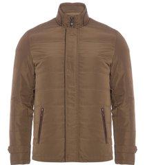 jaqueta masculina nylon detalhes - marrom