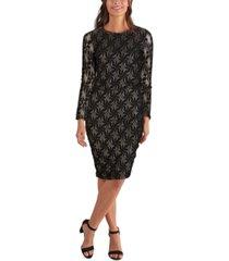 kenzie metallic-patterned dress