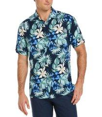 cubavera men's big & tall tropical camp shirt