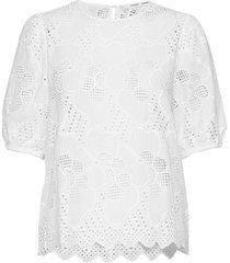 juni ss blouse 11455 blouses short-sleeved wit samsøe & samsøe