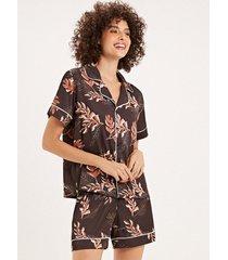 pijama joge curto multicolorido