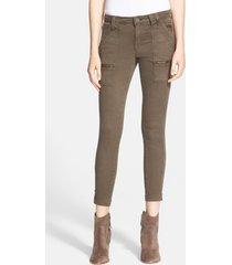 women's joie park skinny pants, size 32 - green