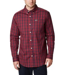 columbia men's big and tall rapid rivers ii checked long-sleeve shirt