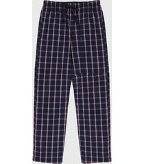 pantalón pijama azul-blanco-rojo gap