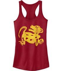 fifth sun legends of the hidden temple juniors red jaguar racerback tank top