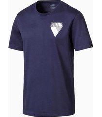 graphic brand t-shirt voor heren, blauw/aucun, maat m   puma
