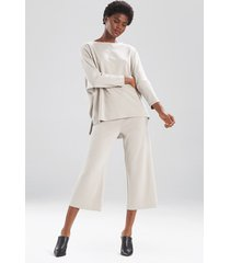 natori mia, sanded jersey oversized tunic top sleepwear pajamas & loungewear, women's, size l natori