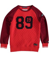 retour padded sweater bright red