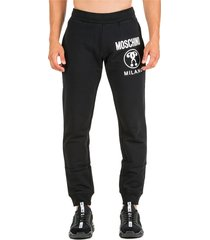 moschino double question mark tracksuit bottoms