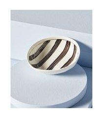 vaso de cerâmica estampado cor: preto e branco - tamanho: único