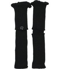 polaina ayron fitness max lã com botão preta