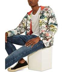 guess men's graffiti track jacket