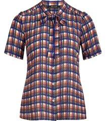 king louie delia blouse carillo midnight check