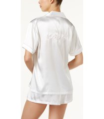 linea donatella bride embroidered 2pc pajama set