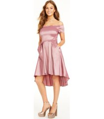 b darlin juniors' scalloped off-the-shoulder dress