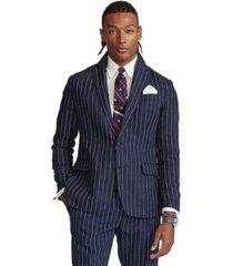 polo ralph lauren men's polo striped slub linen sport coat